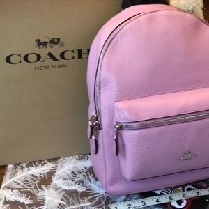 Coach Pink Backpack Leather